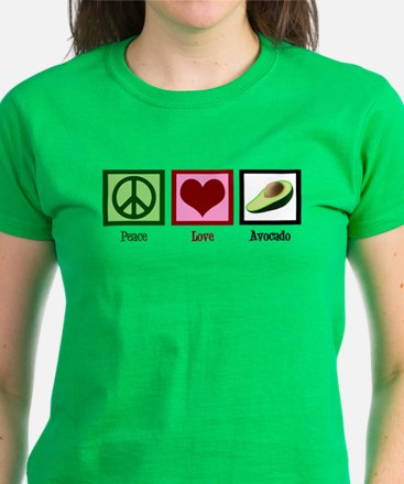 Peace Love Avocado Women's Dark T-Shirt