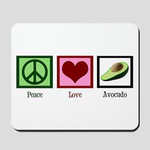 Peace Love Avocado Mousepad