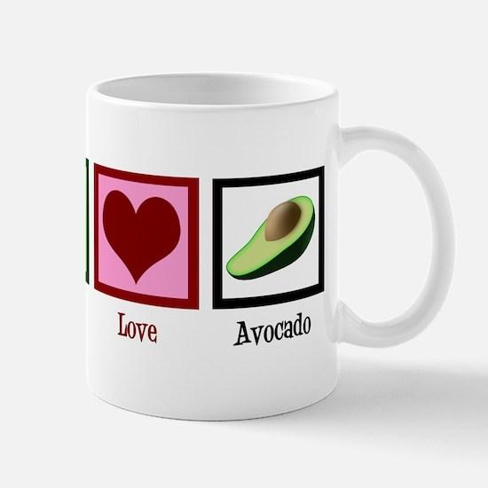 Peace Love Avocado Mug