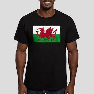 Welsh Flag Men's Fitted T-Shirt (dark)