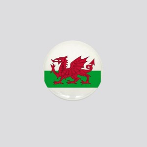 Welsh Flag Mini Button