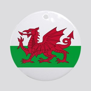 Welsh Flag Ornament (Round)