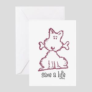 dog bone greeting card - Humane Society Christmas Cards