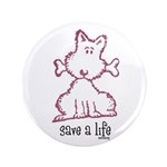 "dog & bone 3.5"" Button (100 pack)"