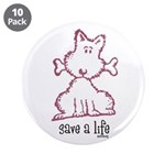 "dog & bone 3.5"" Button (10 pack)"