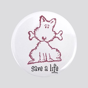 "dog & bone 3.5"" Button"