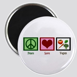 Peace Love Vegan Magnet