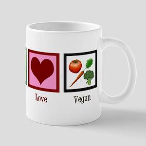 Peace Love Vegan Mug