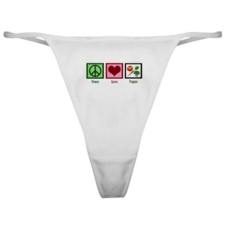 Peace Love Vegan Classic Thong