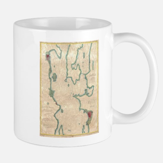 Vintage Map of Lake Champlain (1874) Mugs