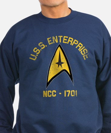 U.S.S. Enterprise Retro Sweatshirt (dark)