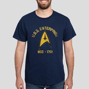 U.S.S. Enterprise Retro Dark T-Shirt