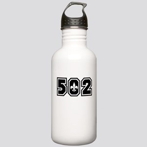 502 Black Stainless Water Bottle 1.0L
