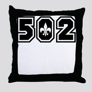 502 Black Throw Pillow