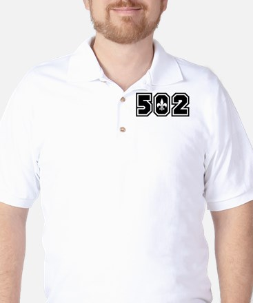 502 Black Golf Shirt