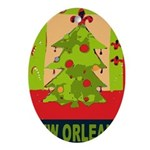 New Orleans Art Ornament (Oval)