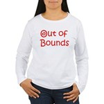 Out of Bounds Women's Long Sleeve Tee (red text)