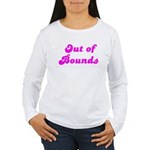 Out of Bounds Women's Long Sleeve Tee (pink text)