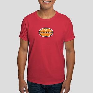 Topsail Island NC - Oval Design Dark T-Shirt
