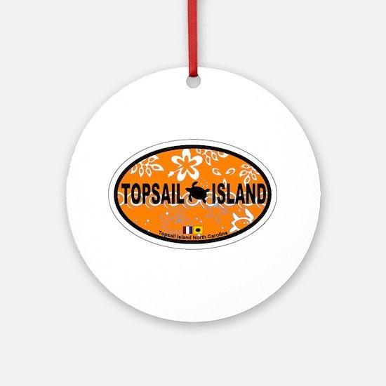 Topsail Island NC - Oval Design Ornament (Round)