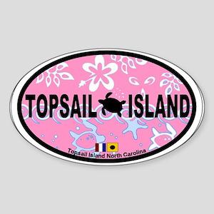 Topsail Island NC - Oval Design Sticker (Oval)