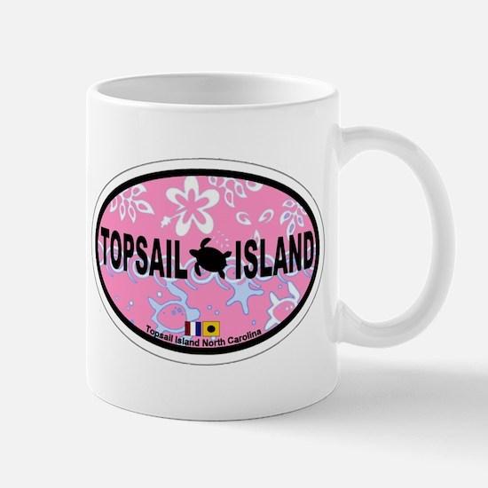 Topsail Island NC - Oval Design Mug