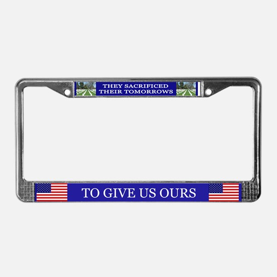 Patriotic License Plate Frame