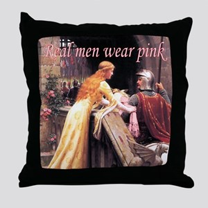 God Speed! in pink Throw Pillow