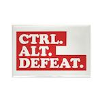 CTRL. ALT. DEFEAT. Rectangle Magnet (10 pack)