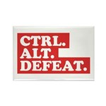 CTRL. ALT. DEFEAT. Rectangle Magnet