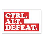 CTRL. ALT. DEFEAT. Sticker (Rectangle)