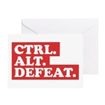 CTRL. ALT. DEFEAT. Greeting Card