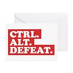 CTRL. ALT. DEFEAT. Greeting Cards (Pk of 10)