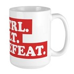 CTRL. ALT. DEFEAT. Large Mug