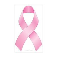 Breast Cancer Ribbon Sticker (Rectangle 10 pk)