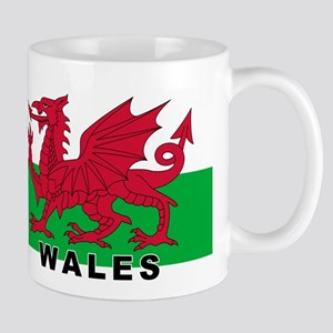 Welsh Flag (labeled) Mug