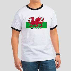 Welsh Flag (labeled) Ringer T