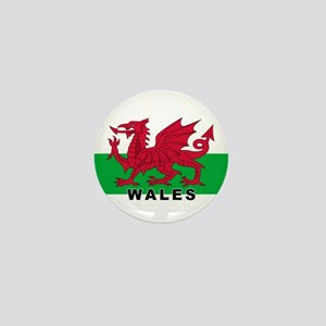Welsh Flag (labeled) Mini Button