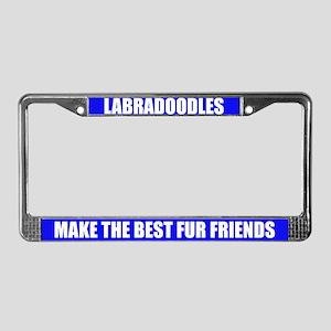 Best Friend Labradoodle License Plate Frame