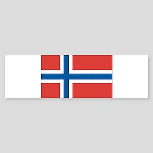 Norway/Norwegian Flag Sticker (Bumper)