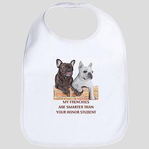 smart french bulldogs Bib