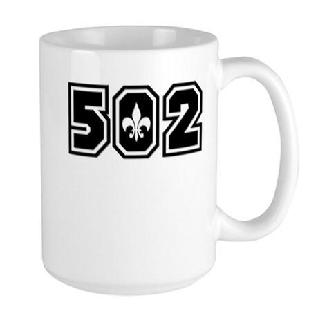 Black/White 502 Large Mug