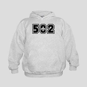 Black/White 502 Kids Hoodie