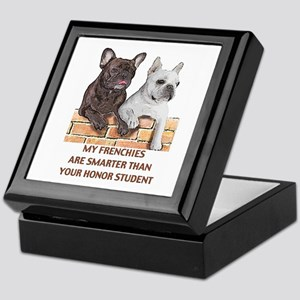 smart french bulldogs Keepsake Box