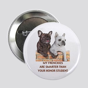 smart french bulldogs Button