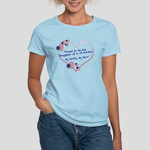 Proud of Dad, US soldier Women's Light T-Shirt