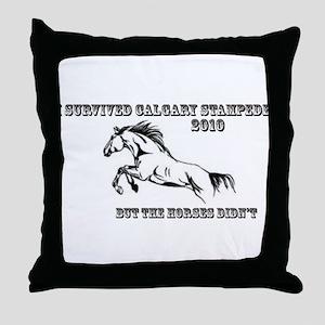 Calgary Stampede 2010 Throw Pillow
