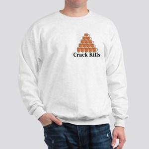 Crack Kills Logo 7 Sweatshirt Design Front Pocket