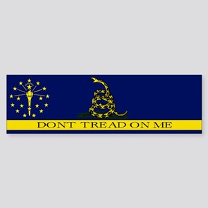 Dont Tread on Me Indiana Sticker (Bumper)