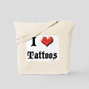 I Love (Heart) Tattoos Tote Bag